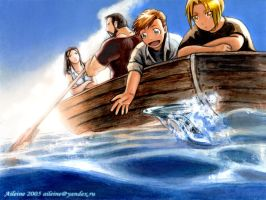 FMA: In the Boat by Aileine
