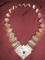 Woven Lapis Collar by Adornments
