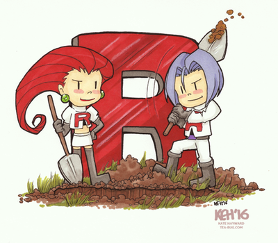 Pokemon 20th Fanart:  Team Rocket by tea-bug
