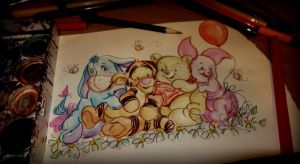 Pooh and Friends by TamiTw
