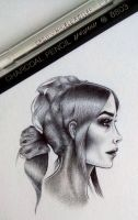 Black and White Portrait by Nastya-An