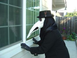 Peeping Plague Doctor by squidink