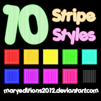 10 Stripe Styles by MaryEditions2012