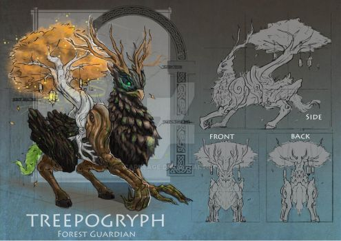 Treepogryph Creature Design by Carneage