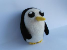 Needle Felted Gunter from Adventure Time by MaijaFeja
