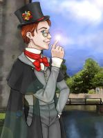 Young Dumbledore  in Hogwarts by ucchan