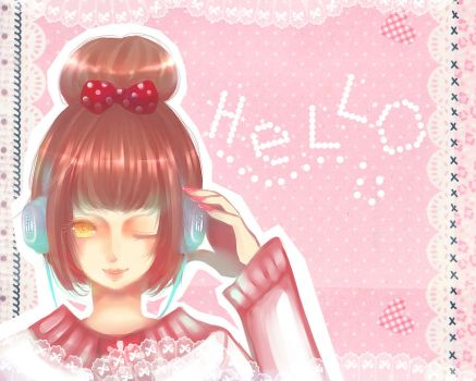 Headphone Girl by sheryu