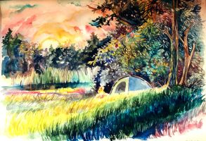 Watercolor summer by TinToad