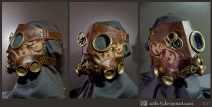 Steampunk Leather Mask - Royal Doctor by artfx-9