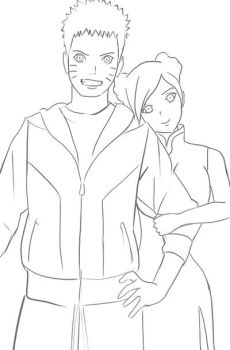 Naruto and TenTen Sketch by greeeed