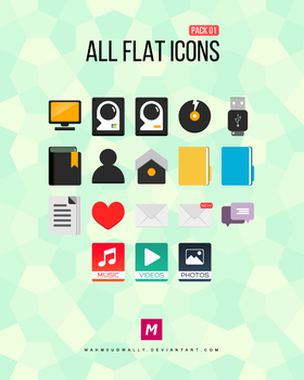 All Flat Icons by Mahm0udWally