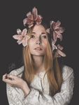 Flower Crown - Photostudy [Speedpaint] by rilemee