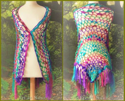 Colorful shawl - for sale by MademoiselleOrtie