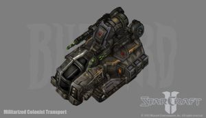Terran Militarized Colonist Transport by PhillGonzo