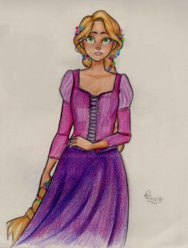rapunzel by flaflame
