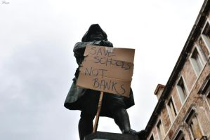 Save schools, not banks by DscoverMyWorld
