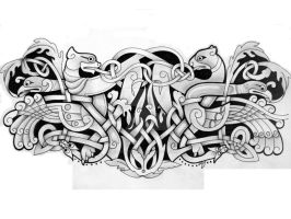 Zoomorphic  arm band by knotty-inks