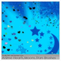 Anime Hearts, Stars, and Moons by Scully7491