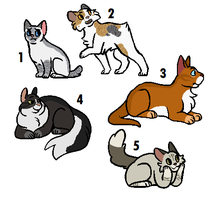 Warrior Cat Set Price Adoptables! by PoisonFate