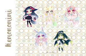 [CLOSED TY] Adoptable AUCTION 58 - Kemonomimi by Puripurr