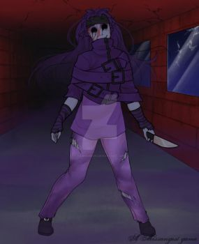 Rickie the Purple Lady as a ghost by yashanie101