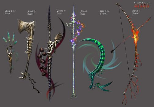 Anima: Bone weapons by Wen-M