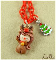 Fimo Rudolph Doll by LolleBijoux