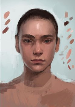 face study by CyanideSunflower
