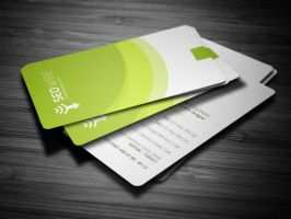 Rounded Modern Business Card by calwincalwin