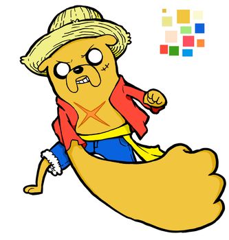 Jake-Luffy Crossover by DoHHoD