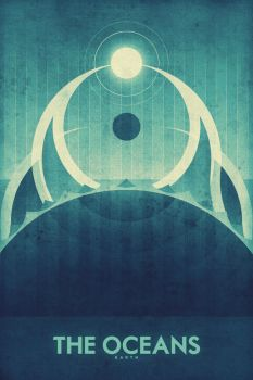 Earth - The Oceans - Space Poster by FabledCreative