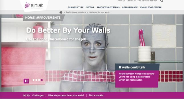 Bodypainted advert camouflage tiles bathroom wall by Bodypaintingbycatdot