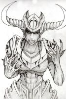 Shyvana: Third Sketch by Admidus