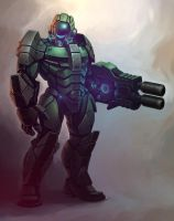 Heavy armored trooper by KhezuG