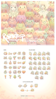 10000 Cats Icon Set by Raindropmemory