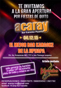 Flyer acaray party by Chafito
