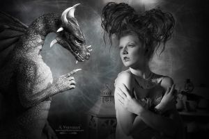 Dragon and Mary by annemaria48