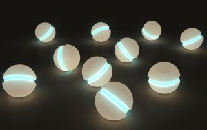 Some more orbs in the dark by kuzy62