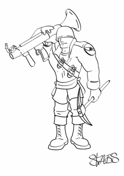 Soldier Lineart by DanMed