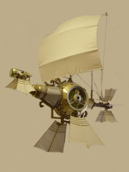 Steampunk Galleon by HubcapCreatures