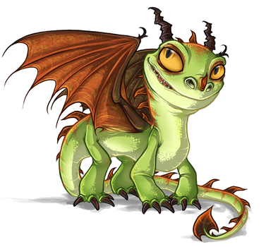 HTTYD - Terrible Terror Dragon by Daffupanda