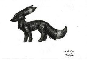 Umbreon - Scanner Test by myheartyoung