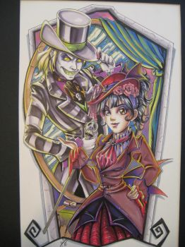 EGL Beetlejuice and Lydia by Amelie-ami-chan
