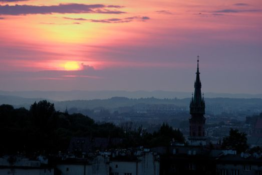 Cracow sunset by drhipis