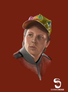 Marty McFly - Digital Portrait by SilverbackDesign