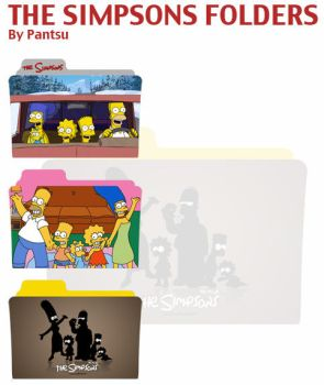 The Simpsons Folders by Cyrus-Pinkney