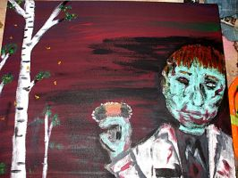 Zombie with Woolly Bear Caterp by scixual