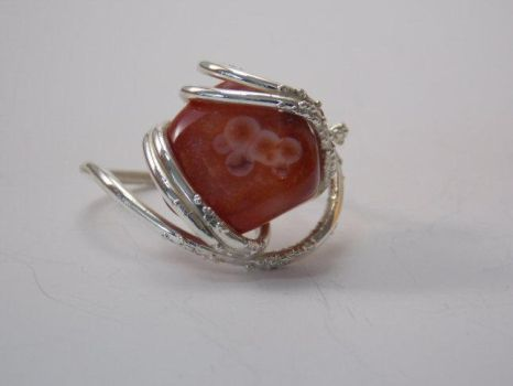 Eye Agate Electroformed Ring by tqween