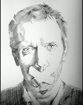 Dr House Pencil drawing - Stages by shonechacko