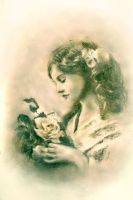 Girl with roses by Ingrima